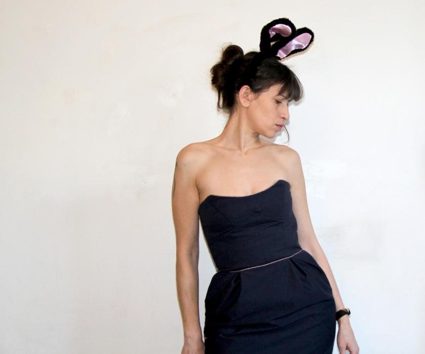 robe bustier oreilles lapin ;)