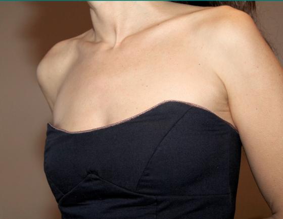 robe bustier détail