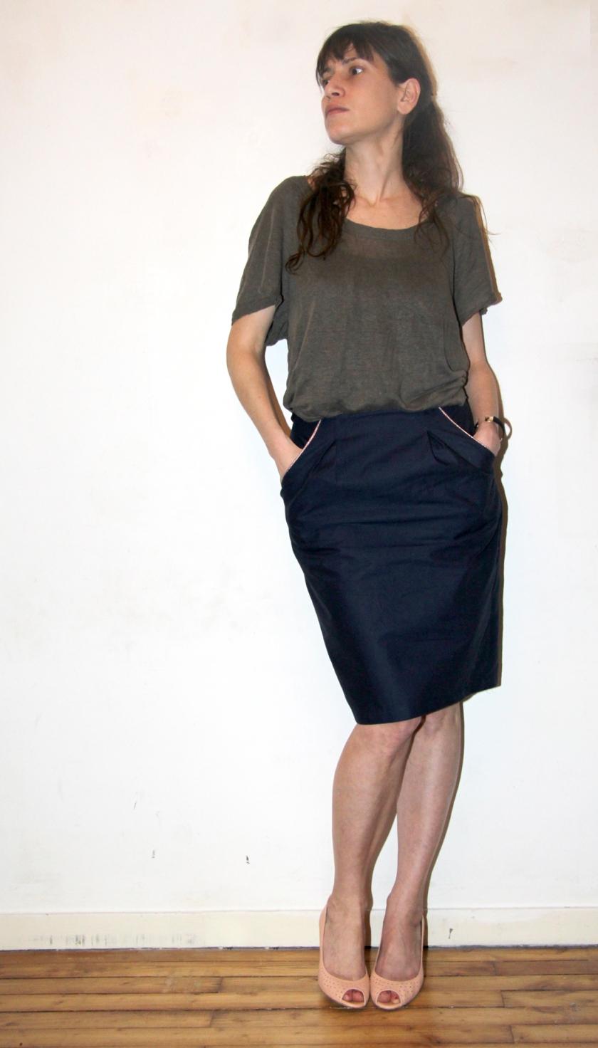jupe bleu lurex
