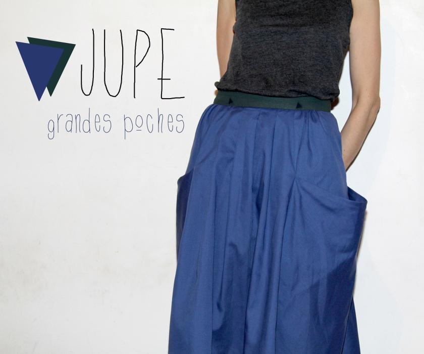 jupe Burda poches Une
