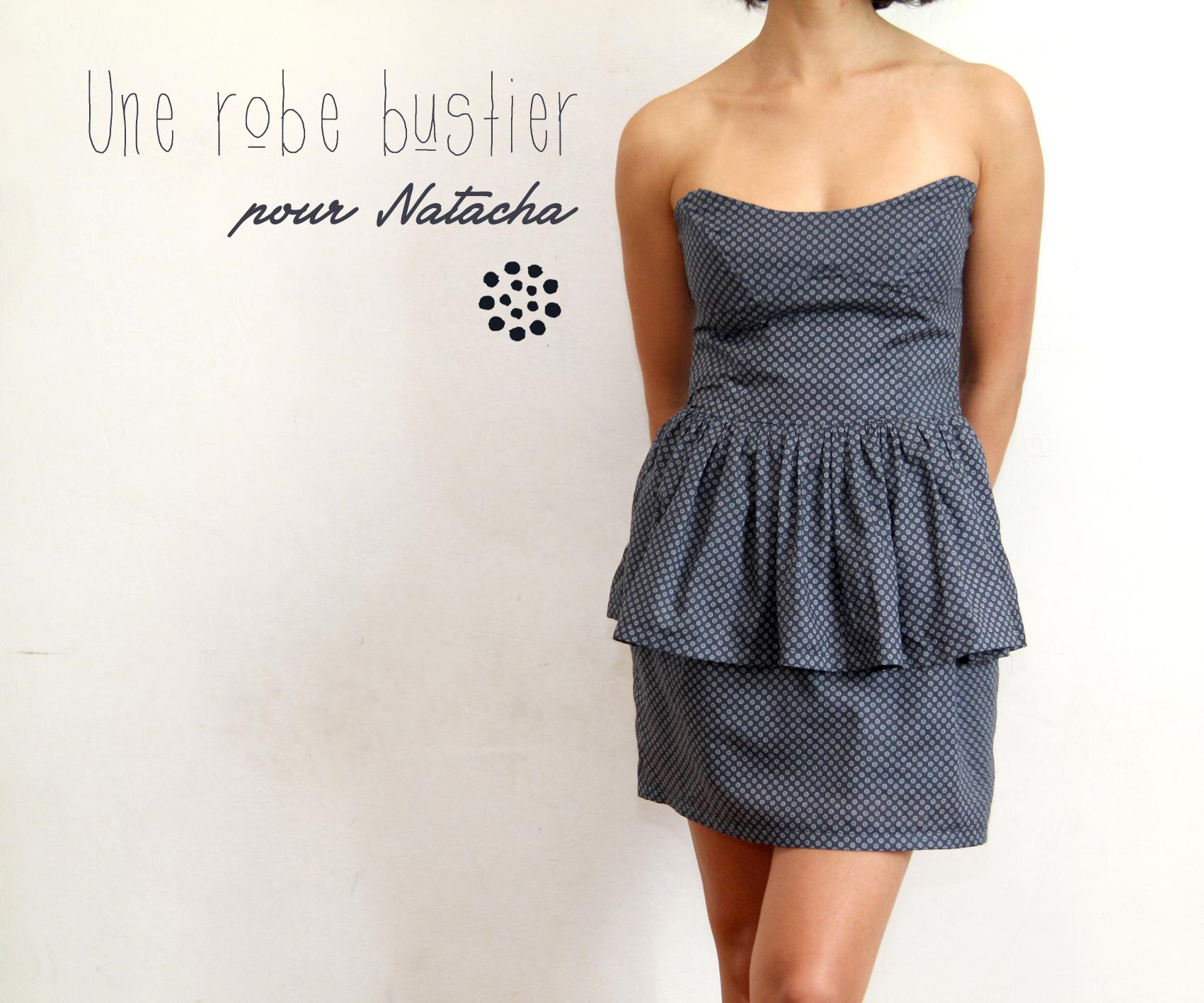 Patron couture pour robe bustier