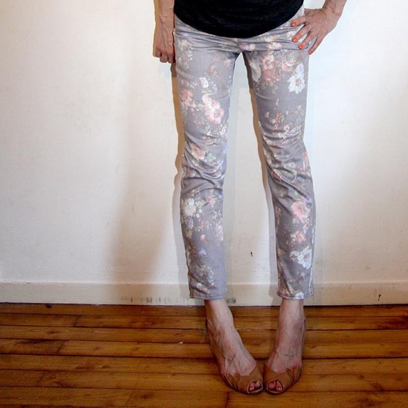 jeans fleurs