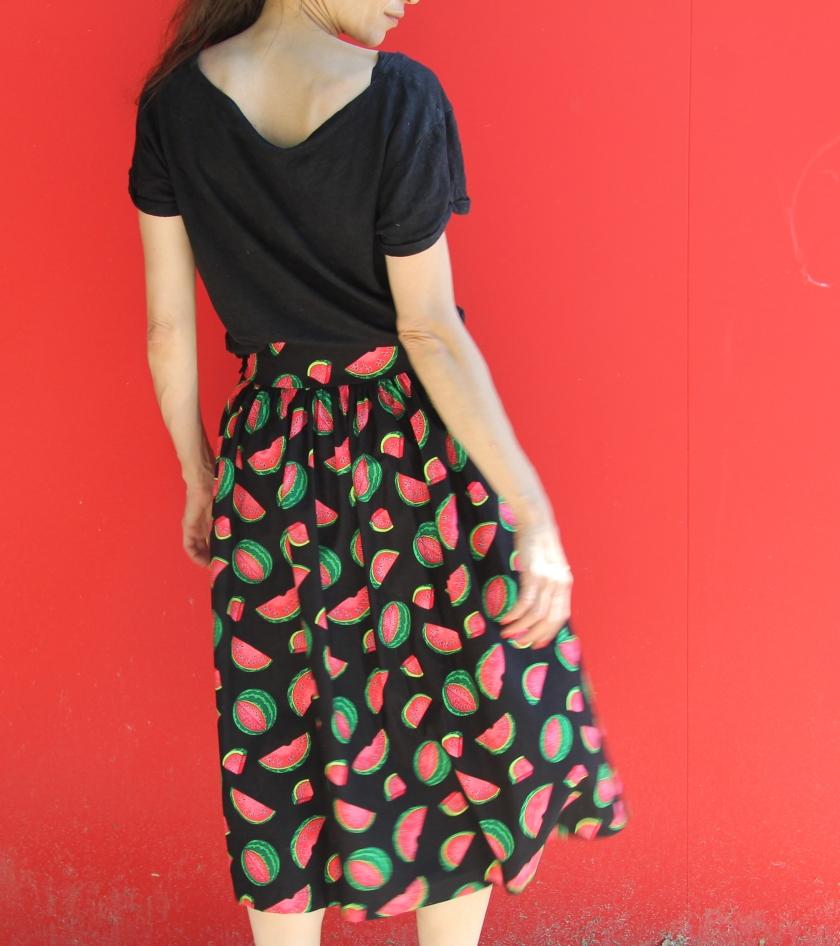 midi jupe pastèque // Jolies bobines